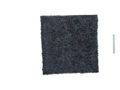 Badtapijt Shaggy Microfiber Antislip 60X60 Grijs