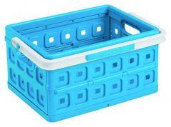 Square Vouwkrat 24 L Met Handgreep Blauw/Wit