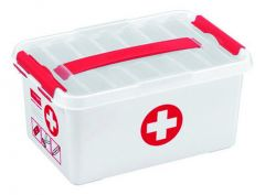 Q-Line First Aid Box 6 L Wit/Rood