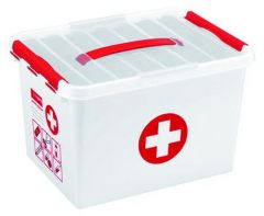 Q-Line First Aid Box 22 L Wit/Rood