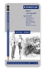 Lumograph Grafietpotlood 12St Zacht
