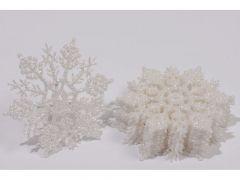 Plc Sneeuwvlok Glit M Hanger Dia10Cm Wit