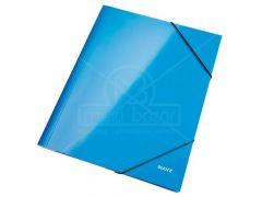 Wow 3-Klepsmap Karton A4 Blauw