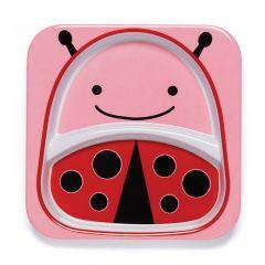 Zoo Devided Plate Ladybug