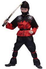 Kostuum Ninja Blackbelt 164