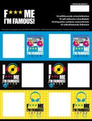 David Guetta Boys Map 18 Schooletiketten