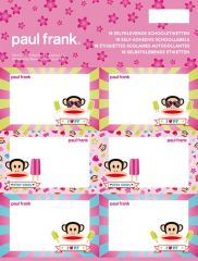 Paul Frank Girls Map 18 Schooletiketten
