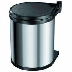 Hailo Afvalemmer Compact Box Inox 15 L