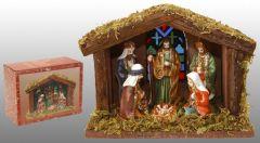 K Kerststal Met 6 Figuren Met Verlichting