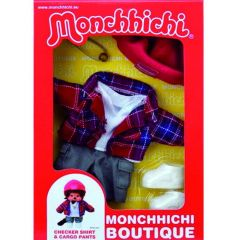 Monchhichi Boutique B Shirt Geruit Met Werkbroek