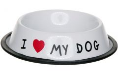 I Love My Dog Eetbak 21X H4.5Cm