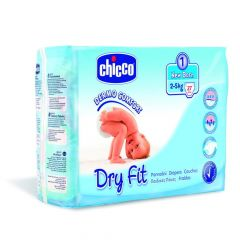 Chicco Dry Fit Luiers Maat 1 New Born 2-5Kg 27St