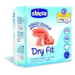 Chicco Dry Fit Luiers Maat 3 Midi 4-9Kg 21Stuks