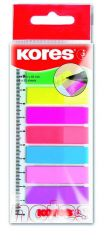 Kores Film Index Strips Op Meetlat 8 Kleuren 25St/Per Kleur