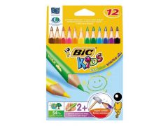Etui 12 Bic Kids Ecolutions Evolution Triangle Ass
