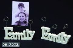 Kaarthouder Hout Family Voor 3 Kaarten 17X12Cm Wit