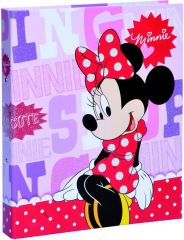 Minnie Mouse Pois Ringmap Karton A4 Ass