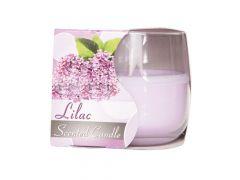 Ct Geurkaars Glas Lavendel-Paars D8Xh7Cm