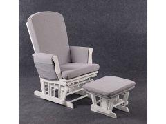 Quax Gliding Chair Wit/Grijze Kussens