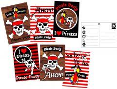 Piraten Uitnodigingskaarten 6 Stuks