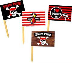 Piraten 36 Vlagprikkertjes