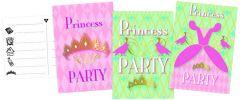 Princess Uitnodigingskaartjes 6 Stuks