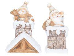 K Kerstm/Sneeuwm Op Schouw 11X15Cm 2Ass.