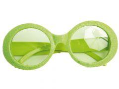 Bril Disco Glitter Neon Groen