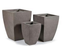 Clayfibre vierkant konisch Taupe W35H51