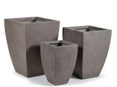 Clayfibre vierkant konisch Taupe W42H59