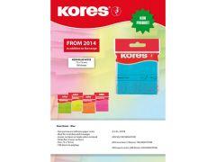 Kores Blue Blok 100 Memo Notes 75X75Mm