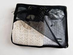 Black Travel Bag Large 45X35X8.5Cm