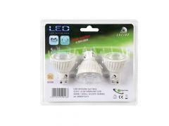 Lucide Lamp Led 3X Gu10/4,5W Dimbaar Blister 3000K Wit