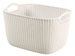 Curver Knit Opbergmand Rechth Large Oasis White 40X28X23