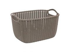 Curver Curver Knit Opbergmand Rechth Large Harvest Brown 40X28X23