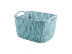 Curver Curver Knit Opbergmand Rechth Large Misty Blue 40X28X23