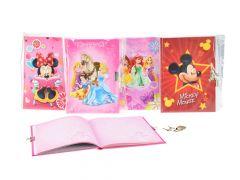 Disney geheime notitieboek met slot in polybag 4-ass.
