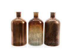K Fles Recycleglas 3Kl. Assortiment Per Stuk. D25X44Cm