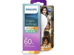 Philips Lamp Led Ss 60W A60 E27 Ww Fr Nd 1Bc/4 (Scene Switch)