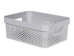 Curver Infinity Box 11L Dots Grijs 36X27Xh14Cm