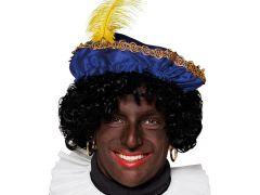Baret Zwarte Piet Blauw