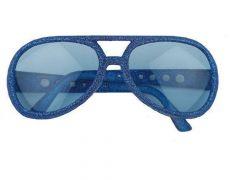 Bril Disco Glitter Blauw