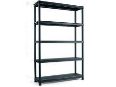 Pvc Rek Shelf Plus 120X40Xh187Cm 5 Schappen Zwart