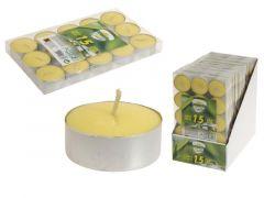 Theelichtjes Citronella 15St. 3% Citronella