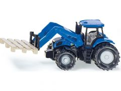 Siku 1487 New Holland tractor met palletdrager