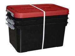 Handy Plus 50L Zwart/Rood Set Van 3St.