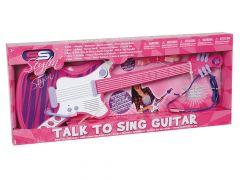 Gitaar Met Headset Pink