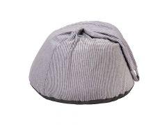 Quax Pouff - Jersey Stripe Grey