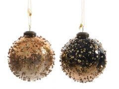 K Gl Bauble Fading W Beads 2Clas Assorted Dia8Cm-