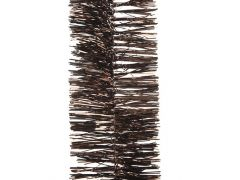 K Tinsel Garland Shiny 4Ply Dark Chocolate Dia7.5X270Cm